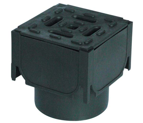 Channel Corner Plastic Grate Vertical Outlet