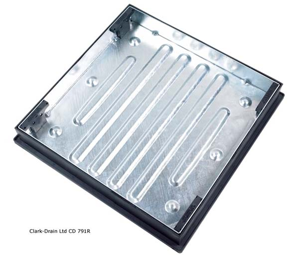 Recessed Paving Lid 600x600x80mm 65mm Block