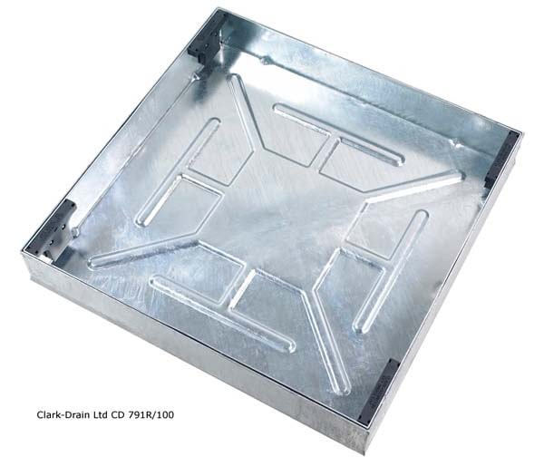 Recessed Paving Lid 600x600x100mm 80mm Block