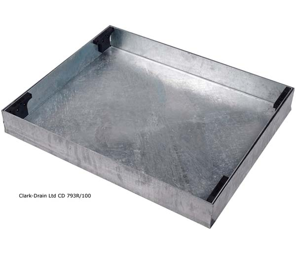Recessed Paving Lid 750x600x100mm 80mm Block