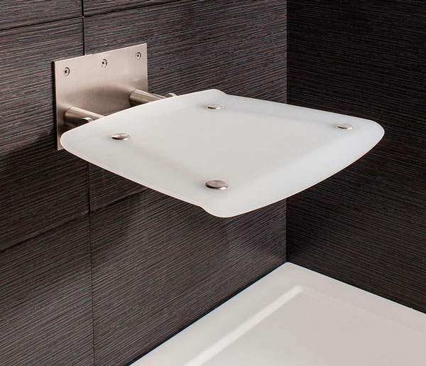 Square Wall Mounted Shower Seat 360x360mm