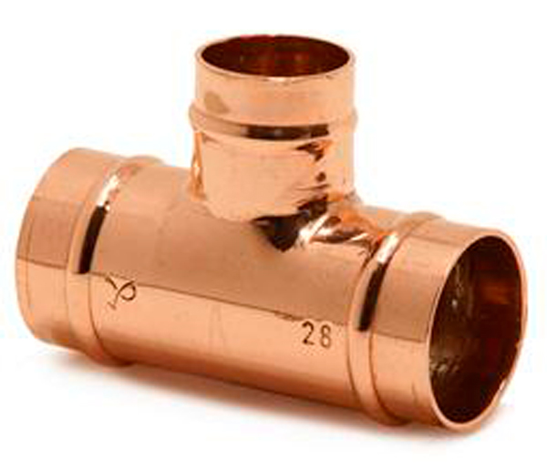 Solder Ring Tee 28mm