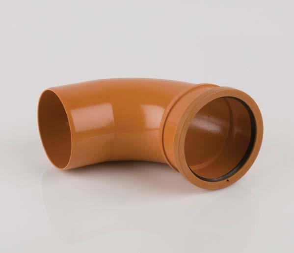 Underground 110mm Single Socket 87.5\' Bend