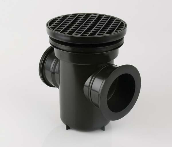 Underground 110mm Bottle Gully Round Grid