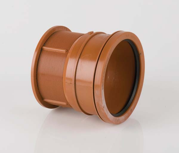Underground 110mm Salt Glaze Socket Adaptor