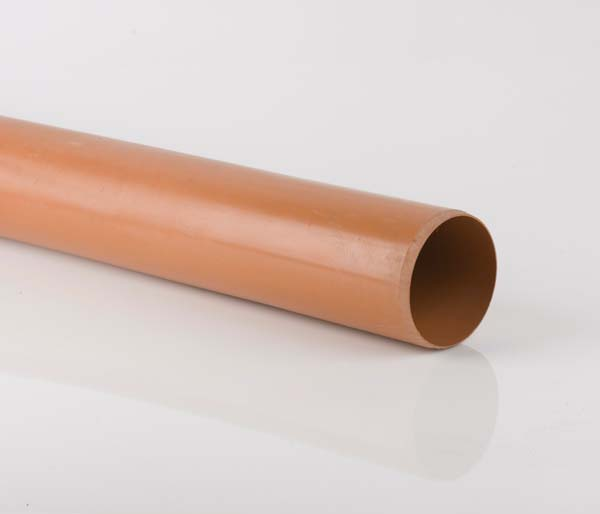 Underground 160mm 6 Metre Plain Ended Pipe