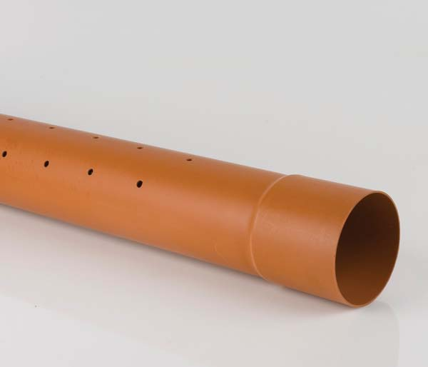 Underground 160mm 6 Metre BS Perforated Pipe