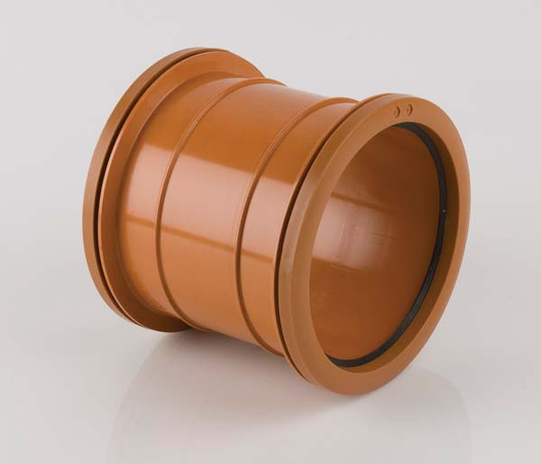 Underground 160mm Double Slip Socket Coupling