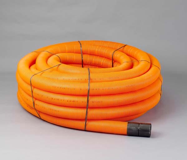 Orange Street Lamp Ribbed Duct 63/50mm x 50m