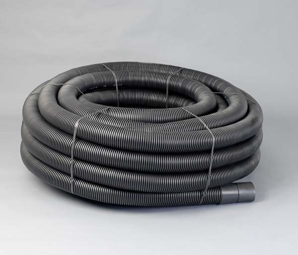 Black Electrical Ribbed Duct 110/94mm x 50m
