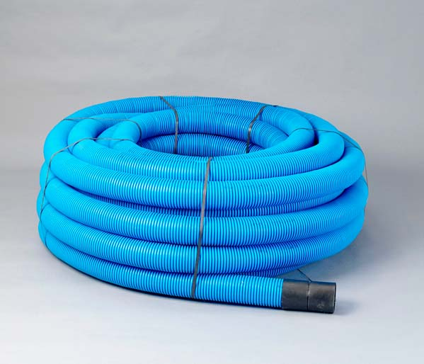 Blue Water Ribbed Duct 110/94mm x 50m