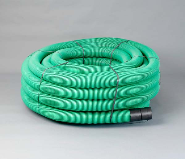 Green CCTV Ribbed Duct 110/94mm x 50m