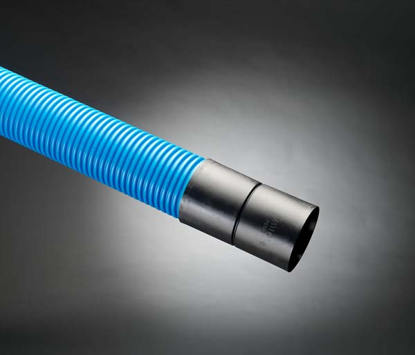Blue Water Ribbed Duct 110/94mm x 6m