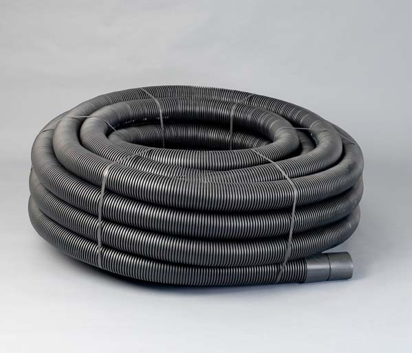 Black Electrical Ribbed Duct 160/137mm x 25m