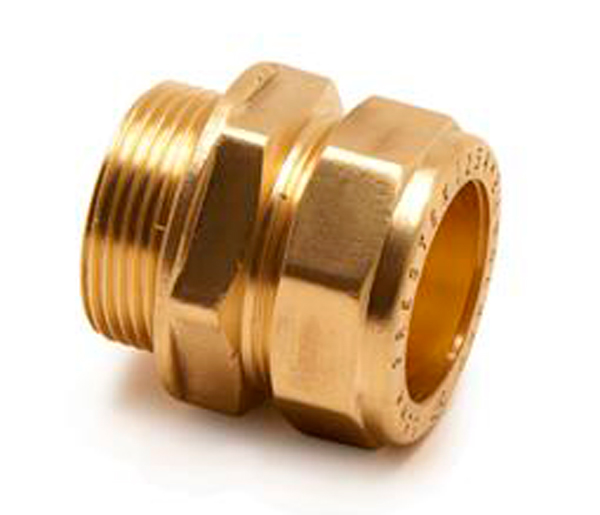 Straight Compression Coupling M/I 8X1/4\