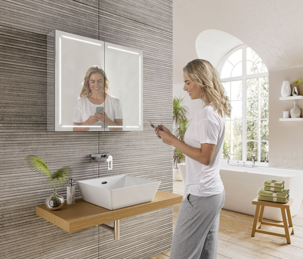 Groove Bluetooth Mirror Cabinet 800x700