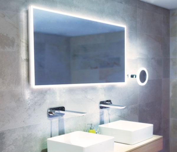 HIB Globe Illuminated Mirror 1200x600mm