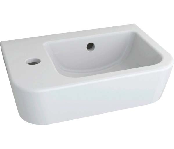 Essence 370mm Cloakroom Basin 1 TH left hand