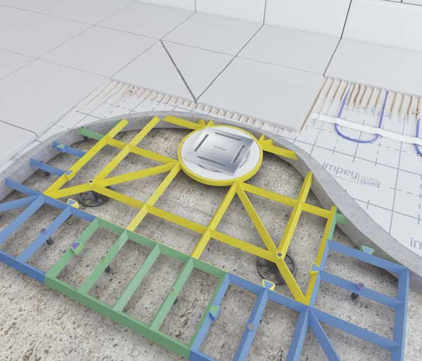 Aqua-Grade System 2 walls 2 Falls 1050x1050mm
