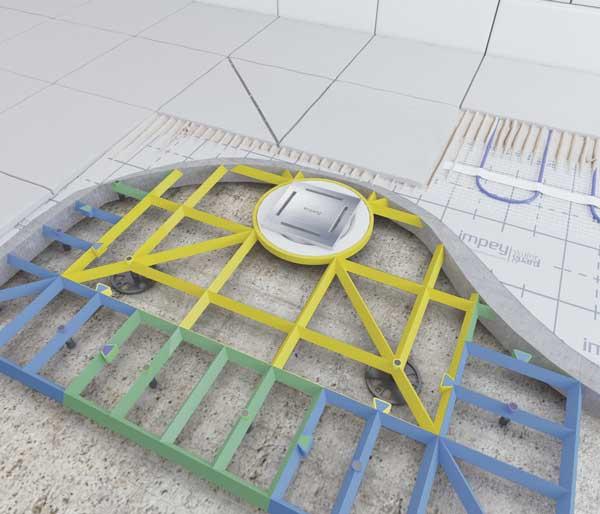 Aqua-Grade System 2 walls 2 Falls 1350x1350mm