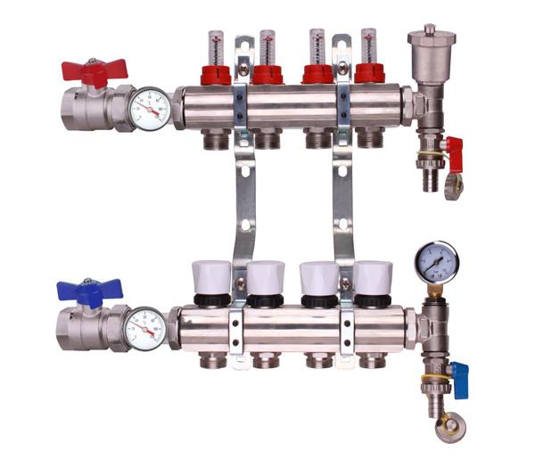 Keyplumb 4 Circuit UFH Manifold Kit 1\