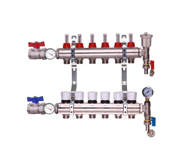 Keyplumb 6 Circuit UFH Manifold Kit 1\