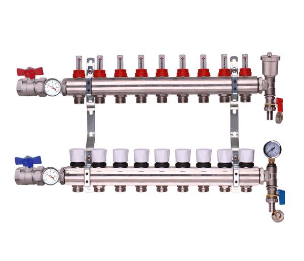 Keyplumb 9 Circuit UFH Manifold Kit 1\