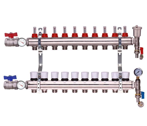 Keyplumb 10 Circuit UFH Manifold Kit 1\