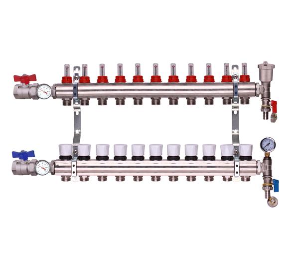 Keyplumb 11 Circuit UFH Manifold Kit 1\