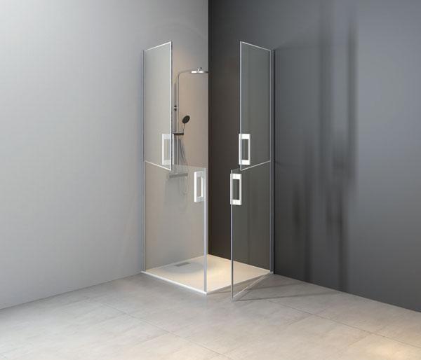 Sanidoor Two Double Pivot Doors LH  900mm