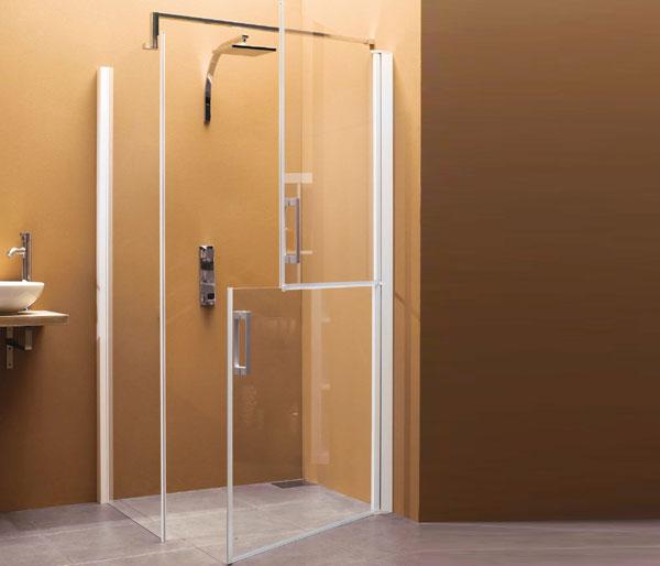 Sanidoor Fixed Panel & 2 Doors  900mm