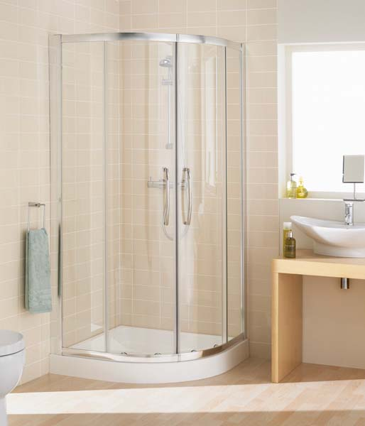 Lakes 2 Door Offset Quad 900x800mm Silver