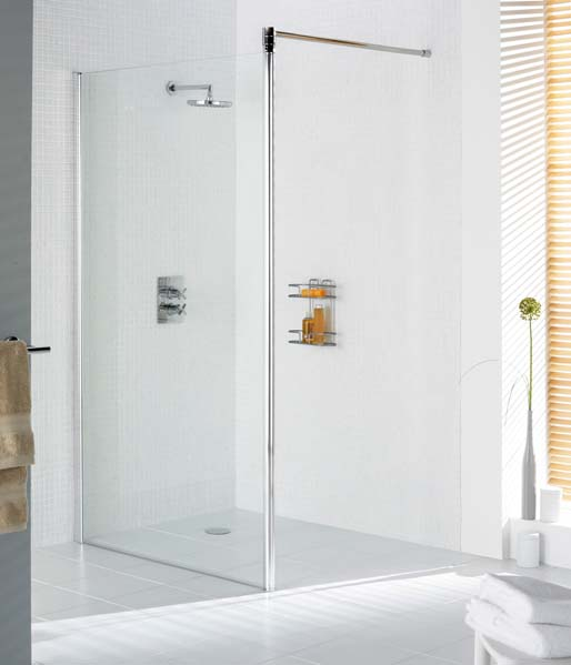 Lakes Shower Screen 8mm 700mm Silver