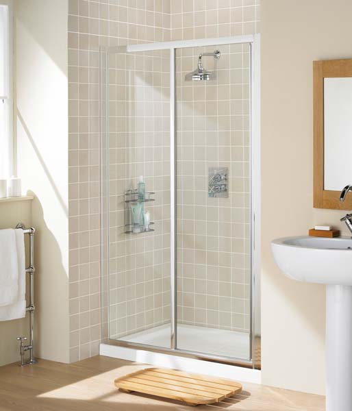 Lakes Framed Sliding Door 1000mm Silver