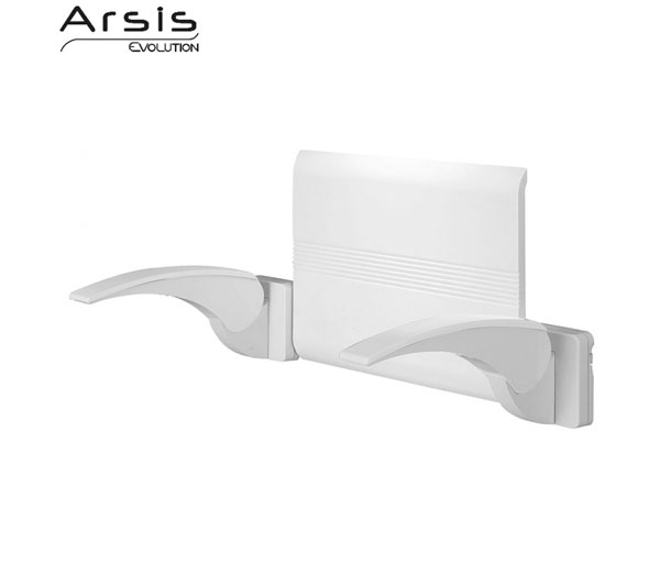 Arsis White Back Support with Armrests