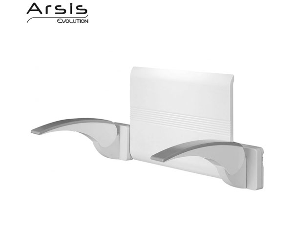 Arsis White/Chrome Back Support with Armrests