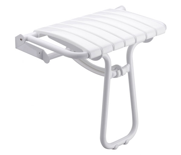 Large Foldaway Shower Seat White