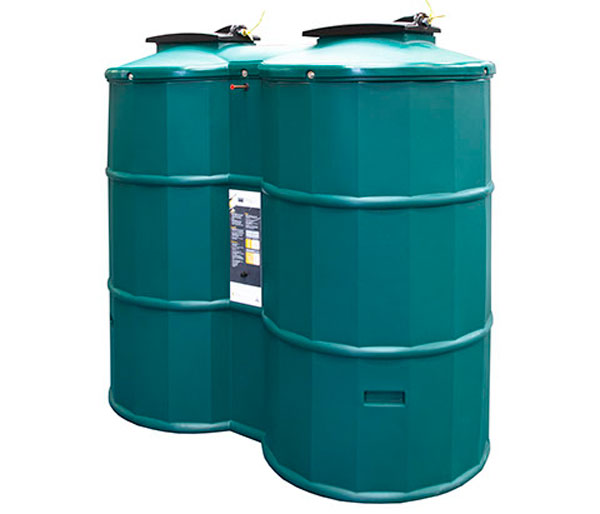 Poly Oil 1200 Litre Bunded Oil Tank In Green
