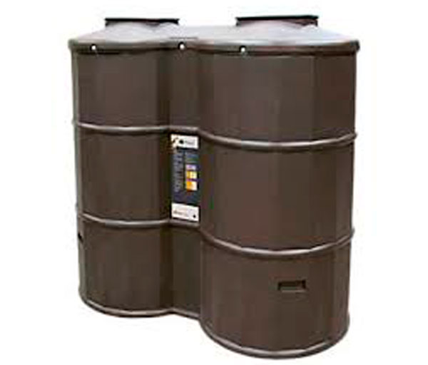 Poly Oil 1200 Litre Bunded Oil Tank In Brown