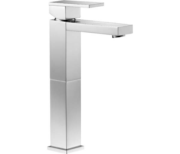 Bloque Tall Basin Mixer with Clicker Waste