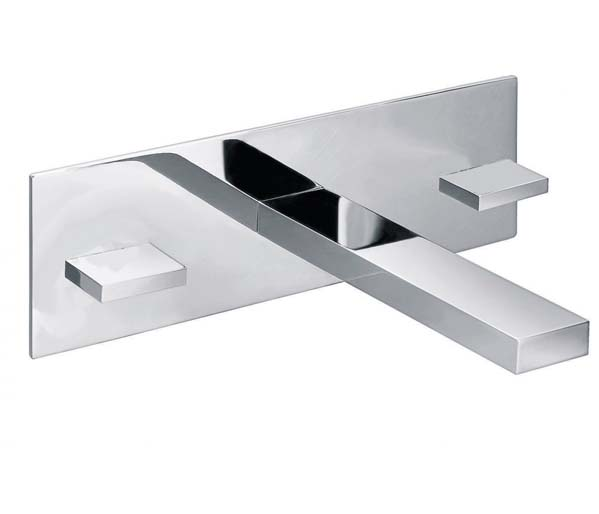 Bloque Wall Mounted Basin Mixer