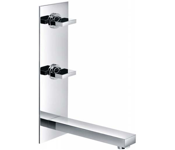 Bloque  Vertical Wall Mounted Basin Mixer