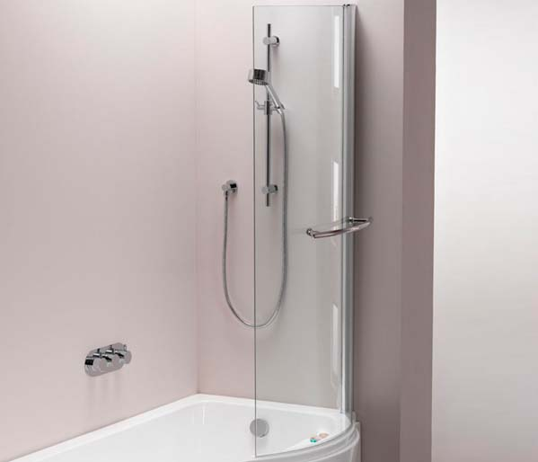 Arco 800mm universal shower bath screen