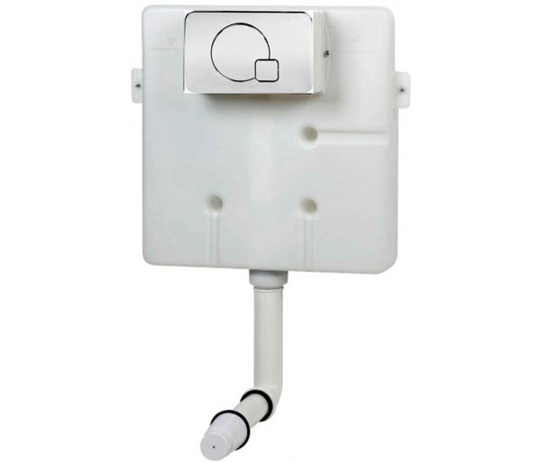 Super Slim Concealed Cistern with Flush Plate