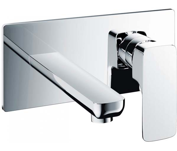 Flite Wall mounted Basin Mixer with click was