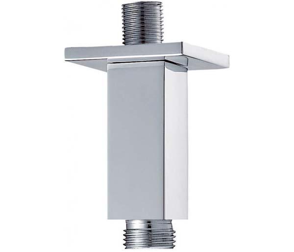 75mm Short Square Shower Arm - Ceiling