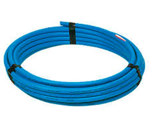 Blue MDPE SC80 Service Pipe 20mm 25m Coil