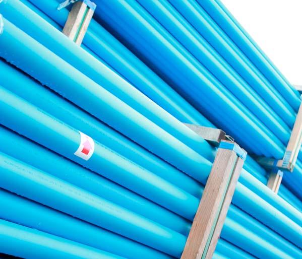Blue MDPE SC80 Service Pipe 25mm 6m Length