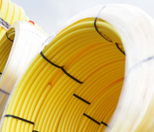 Yellow SC80 Gas Pipe 20mm 100m Coil SDR11