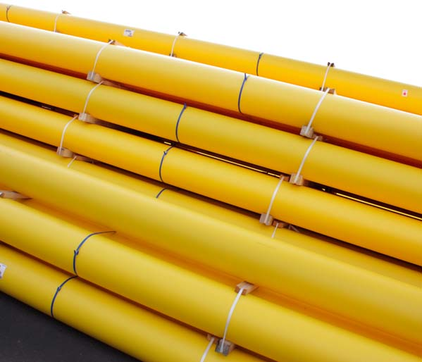 Yellow SC80 Gas Pipe 90mm 6m Length SDR17